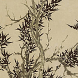 asian art - Ink painting Pine