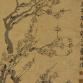asian art - Ink painting Plum blossom