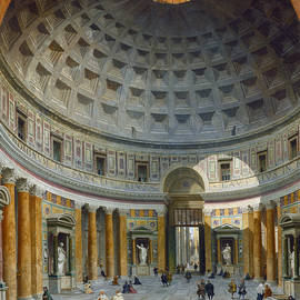 Interior of the Pantheon, Rome - Giovanni Paolo Panini