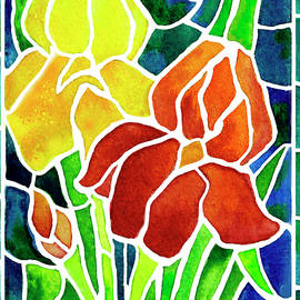 Janis Grau - Irises in Stained Glass