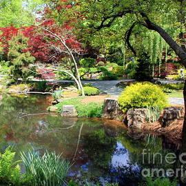 Japanese Garden - Gibbs Gardens Georgia by Charlene Cox