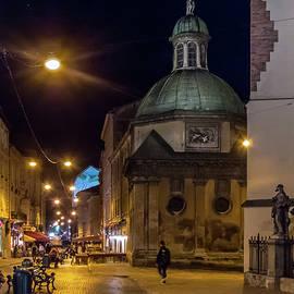 Stephen Rowles - Lviv Street at Night