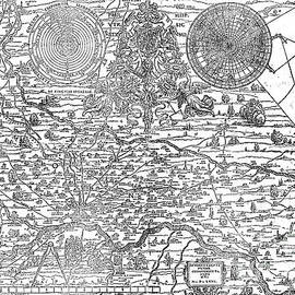 Map of the town and diocese of Cremona, 1571 - Antonio Campi