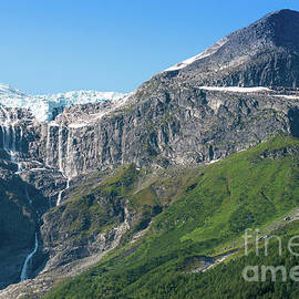 Melting glacier seen from Oldevatnet Lake  by Andrew Michael