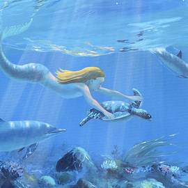 Mermaid Fantasy by Janet Biondi