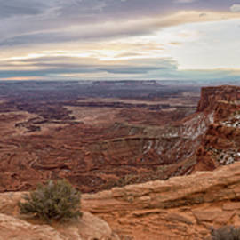 Mesa Arch Sunrise Panorama - Canyonlands National Park - Moab Utah by Brian Harig