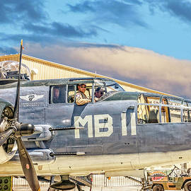 Marine Mitchell B-25 PBJ  by Sandra Selle Rodriguez