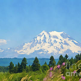 Tatiana Travelways - Mount Rainier Watercolor