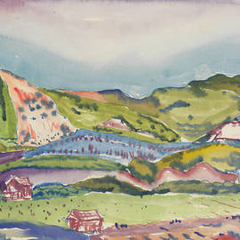 Mountain with Red House - Charles Demuth