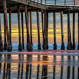 Gregory Ballos - Ocean Pier at Sunset - Nautical Prints