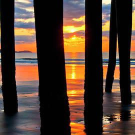 Joann Vitali - Old Orchard Beach Pier Sunrise - Maine