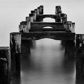 Walnut Beach Old Pilings  by John Vose