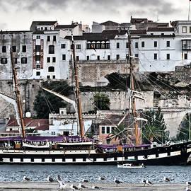 Old port Mahon and Italian sail training vessel Palinuro hdr by Pedro Cardona Llambias