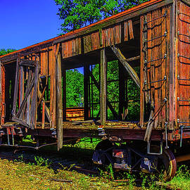 Old Wooden train Car - Garry Gay