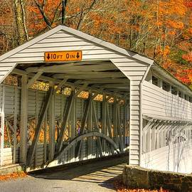 Michael Mazaika - PA Country Roads - Knox Covered Bridge Over Valley Creek No. 2A - Valley Forge Park Chester County