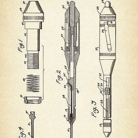 Jose Elias - Sofia Pereira - Patent Drawing for the 1953 Surgical Stitching Instruments by R. W. Thayer