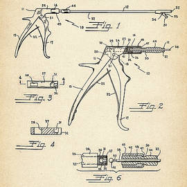 Jose Elias - Sofia Pereira - Patent Drawing for the 1955 Surgical Instrument by W. C. Moore