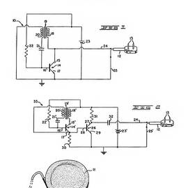 Jose Elias - Sofia Pereira - Patent Drawing for the 1960 Medical Cardiac Pacemaker by W. Greatbatch
