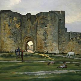 Porte de la Reine at Aigues-Mortes - Frederic Bazille