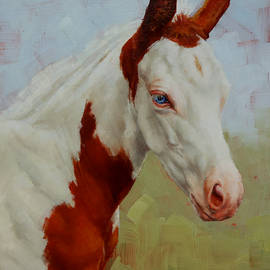 Margaret Stockdale - Pretty Baby-Paint Foal Portrait