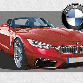 Red 2018 B M W  Z 5 with 3 D Badge