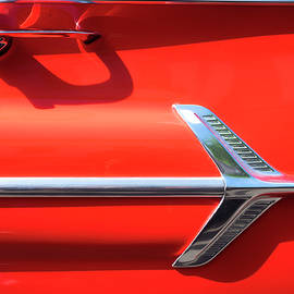 Red Chevy Impala Detail by Russ Dixon