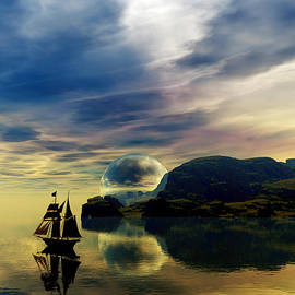 Reflection Bay by Sandra Bauser Digital Art
