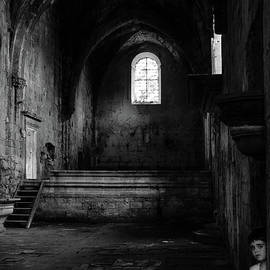 RicardMN Photography - Rioseco Abandoned Abbey Nave Bw