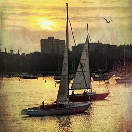 Deb Barchus - Sailing Lake Michigan