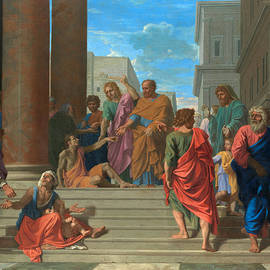 Saints Peter And John Healing The Lame Man by Nicolas Poussin