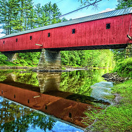 Sawyers Crossing Covered Bridge by Gestalt Imagery