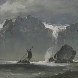 Peder Balke - Seascape and boat