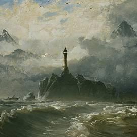 Peder Balke - Seascape and Lighthouse