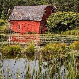 Sinking Red Barn #1 by Patti Deters