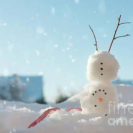 Snowman Doing A Handstand - Amanda Elwell