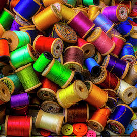 Garry Gay - Spools Of Thread With Buttons