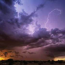 Stormy Desert Skies  by Saija  Lehtonen