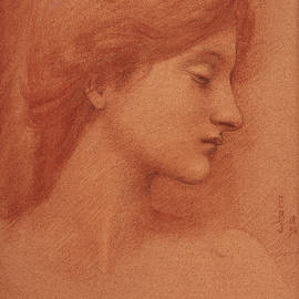 Study Of A Female Head by Edward Burne-Jones