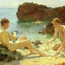 Sun Bathers - Henry Scott Tuke