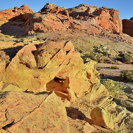 Ray Mathis - Sunrise in Wash 3 of Valley of Fire