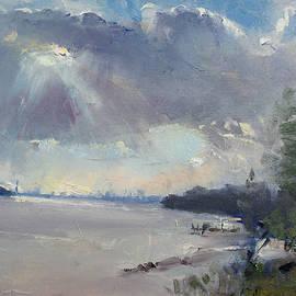 Sunset at Niagara River - Ylli Haruni