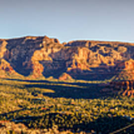 Sunset in Sedona Panorama by Alexey Stiop