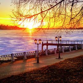 Sunset on Volga River by Alexey Stiop