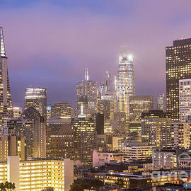 Didier Marti - Sunset over San Francisco financial district