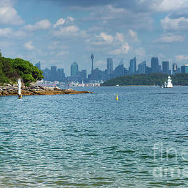 Sydney city skyline seen from Watson Bay by Andrew Michael