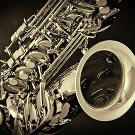 Tenor Saxophone Sepia Tone Photograph 3358.01 by M K Miller