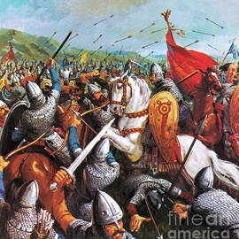 The Battle of Hastings - English School