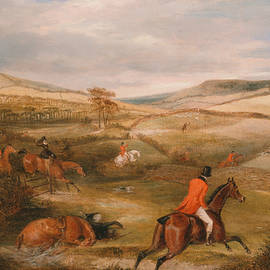 The Berkeley Hunt, 1842 - The Chase - Francis Calcraft Turner