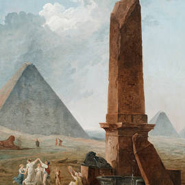 The Farandole Amidst Egyptian Monuments - Hubert Robert