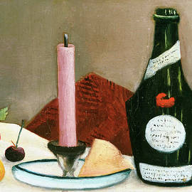 The Pink Candle - Henri Rousseau
